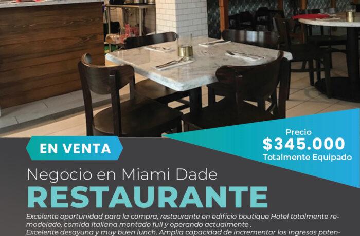 Venta de Restaurante en South Beach-Miami Negocios en Venta