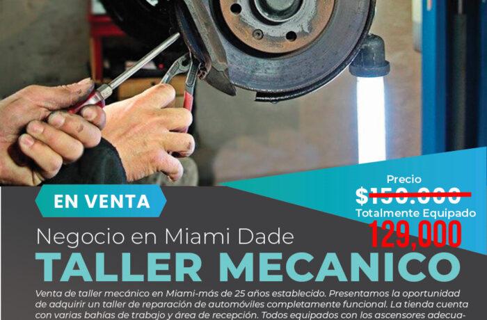 Venta de taller mecánico en Miami-25+ años establecido