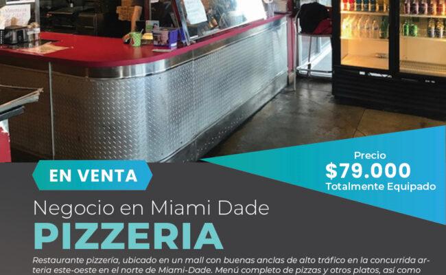 Venta de Pizzeria-Restaurante en Miami Dade, Florida-Miami Negocios en Venta