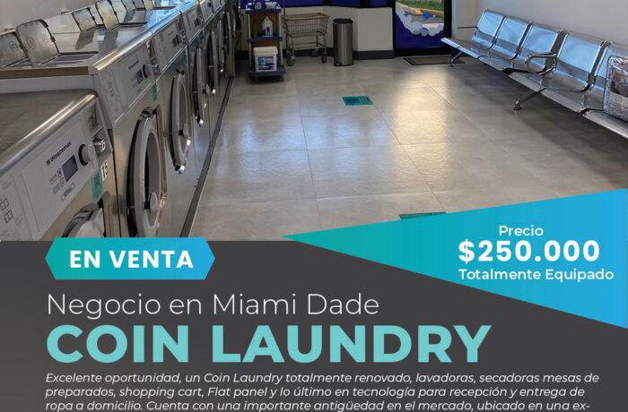 Lavanderia-Coin Laundry en venta-Miami Negocios en Venta