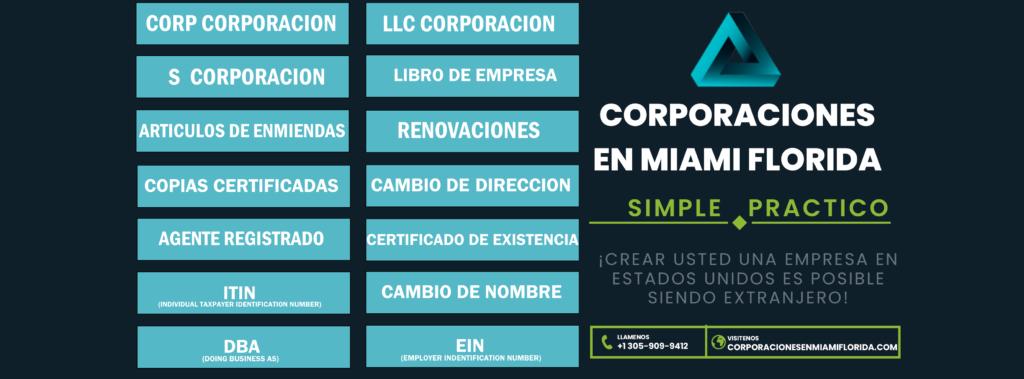 Incorpore su empresa en USA-Corporaciones en Miami Florida
