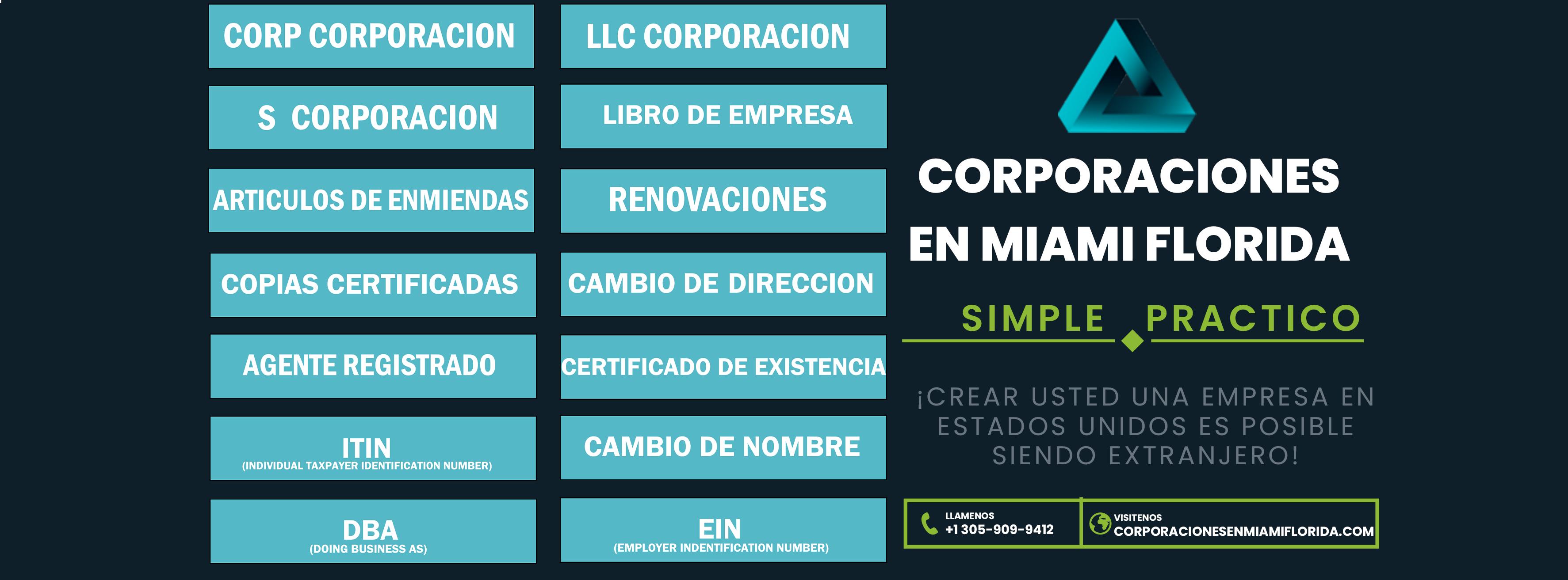 Usted quiere hacer su corporación en la florida?, simple fácil y en 4 pasos, ITIN - EIN - DBA -
