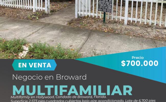 Venta de multifamilar en Hollywood, Florida-Miami Negocios en Venta
