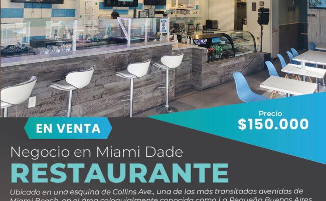 Restaurante en venta en Miami Beach, FL-Pequena Buenos Aires
